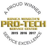 Konica Minolta Again Honors Commonwealth Digital Office Solutions with 2017 Pro-Tech Service Award for Service Excellence
