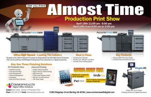It's Almost Time For The 2018 Production Print Show!